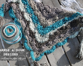 Puffalicious Cowl or Mini Shawl, crochet made to order