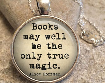Literary Book Quotes Necklace Pendant