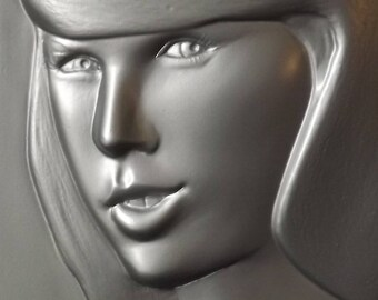 Taylor Swift Sculpture 2 Wall plaque Bas Relief by Don Maguire