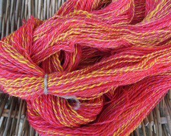 Sunburst Handspun Corriedale Pure Wool Yarn for Knitting, Crochet and Crafts