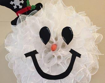 Snowman wreath (small version)
