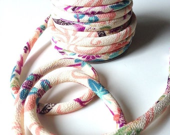 Japanese cord 8mm, Chirimen, cream (C3114-8)