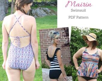 Women's Mairin Swimsuit PDF Pattern
