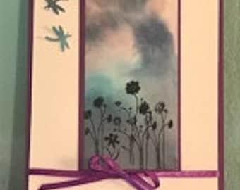 Sky Dragonfly Greeting Card