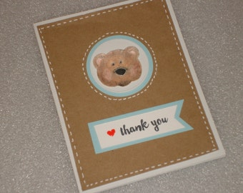 Bear Baby Thank You Card Set