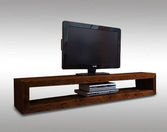 """Long tv stand,tv stand,tv table,tv cabinet,tv console,wood tv stands,tv table stand,tv bench,media stand,tv stand cabinet """"Northern Forest""""."""