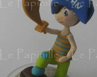 Petit pirate, cake topper anniversaire enfant porcelaine froide à partir de 30 réservé