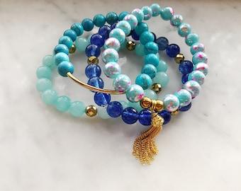 KATHERINE- 4 piece bracelet stack set