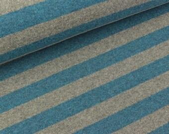 Fine knit Lenn strips Rauchblau-Heather Grey (17.90 EUR/meter)