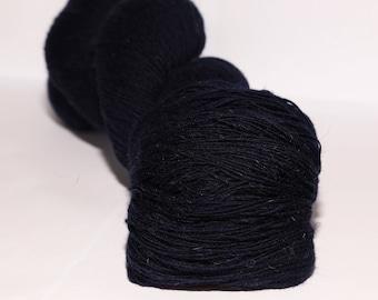 1 ply Kauni Wool Yarn 8/1, Self-Striping Color Dark Blue (not black)