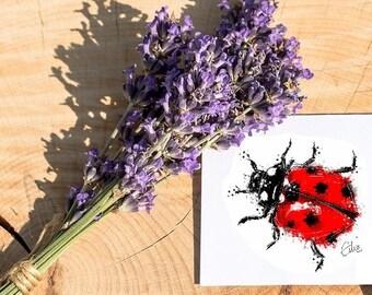 Ladybird card // ladybug card // ladybird greetings card // ladybird birthday card // bug card // insect card // thank you teacher card