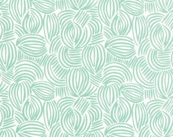 Canyon Fabric by the Yard, Kate Spain Fabric, Moda Fabrics, Aqua Quilt Fabric, Modern Quilt Fabric, Geode Aloe , 27226 11