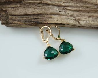 Earrings | Crystal | Emerald