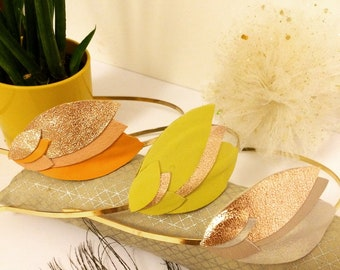 Leather petals headband