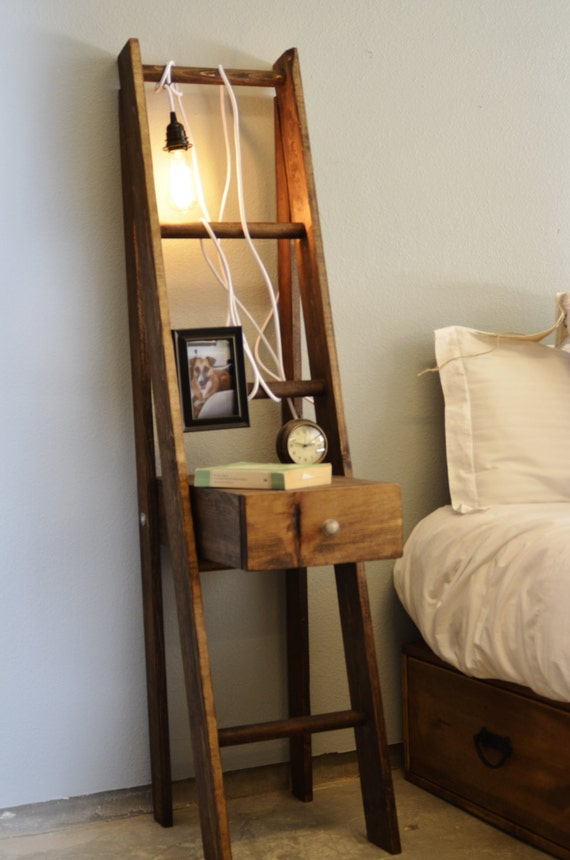 Charmant Items Similar To Ladder Nightstand With Drawer On Etsy