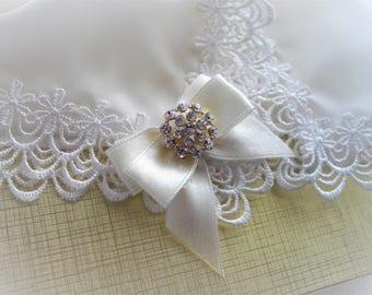 Silk Lace Wedding Keepsake Handkerchief Luxurious Delicate Ornate Bridal Shower Gift Rhinestone Ribbon Embellished Hankie handcraftUSA Etsy