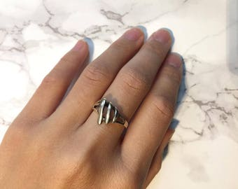 Oxidised Aged Sterling Silver Ring