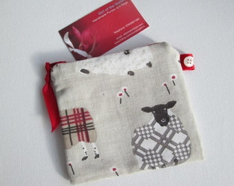 HALF PRICE SALE RedSheep  Coin  Purse