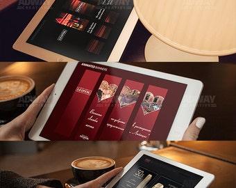 HTML5, CSS3 web banner design.