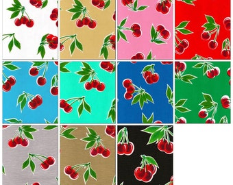 OilclothByTheYard   Cherry  Your Choice of Color