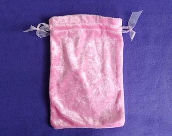 Tarot Bag Large - Pink Crushed Velvet
