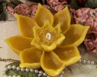 Beeswax Lotus Flower Candle And It Is A Floater Floating Candle As Well