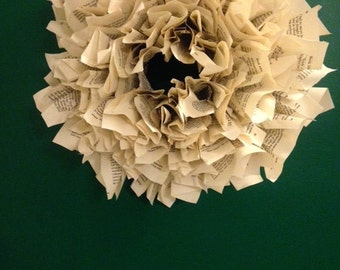 Book Wreath (small)