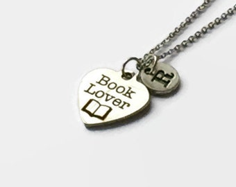 Gift Idea for Book Lovers - Librarian Gift - Book Charm Necklace - Gift for Book Worm - Librarian - Book Lover - Teacher Necklace - Read