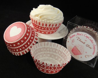 Heart Bottom Valentines Cupcake Liners