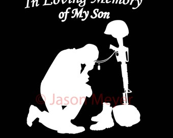 In memory of a Fallen soldier (personal use) .ai file