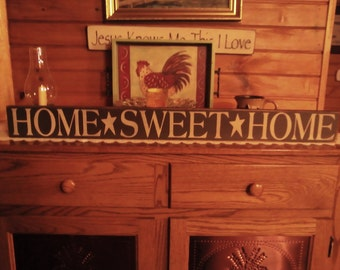Home * Sweet * Home 36x4 sign or shelf sitter