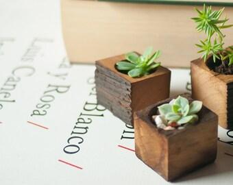Succulent planter - Planter box - Small wooden planter - Wooden succulent planter - Wedding gift - Reclaimed wood
