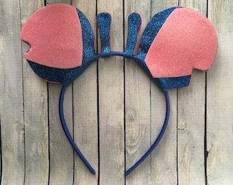 Stitch ears, Lilo and Stitch, Mickey Ears, Disney, Disneyland, Disney World