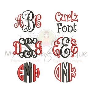 Embroidery Font Packs BX Bundle Machine Monogram PES Designs - Embroidery Font Pack BX - Embroidery Font Bundle - 3 Sizes - Instant Download