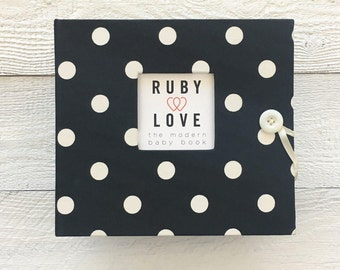 BABY BOOK | Black Polka Dot Album