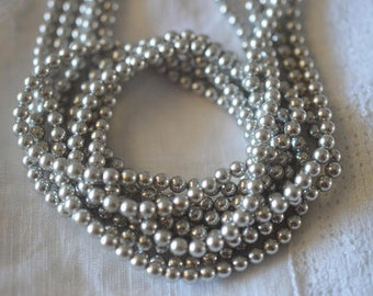 Light Grey  4mm Swarovski Crystal Pearl (5810) 25-100 pcs (C-13A)