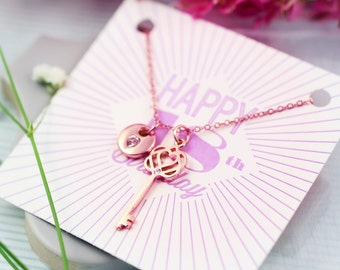 18th Birthday Gift | 18th Birthday Jewellery | Present for 18th Birthday | 18th Birthday Card | FREE UK Shipping | Key Necklace |RG