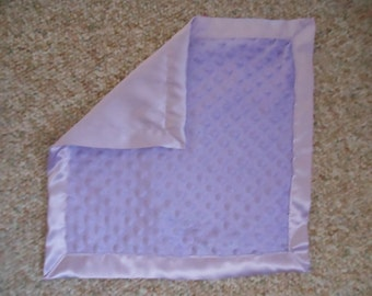Personalized Lavender Minky Baby blanket 30x40