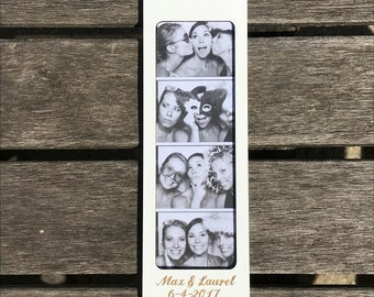 100 Pk Wood Engraved PhotoBooth Picture Frame - Any Size