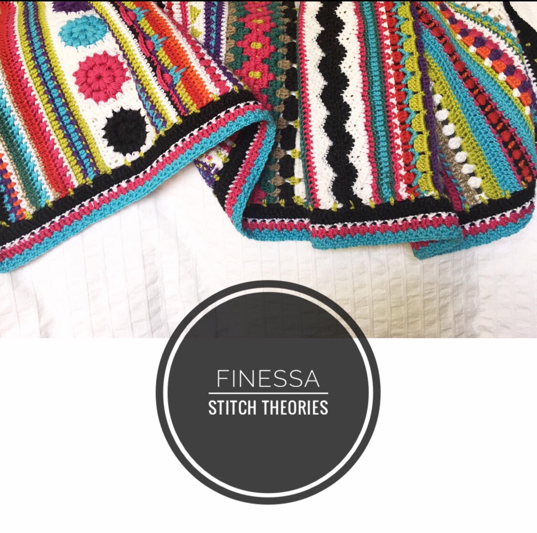 Finessa Mixed Stitch Crochet Blanket Pattern from StitchTheories on ...