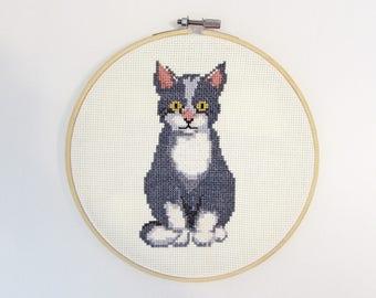 Cat cross stitch pattern - PDF - Instant download