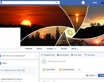 Hexagon Facebook Cover Collages Photoshop Actions