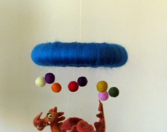 Nursery mobile Dragon Kids room decoration