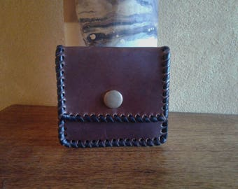 Square Leather Purse