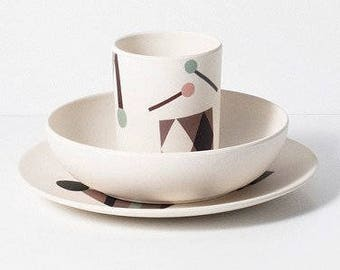 Bamboo Kids Dinner Set - Party