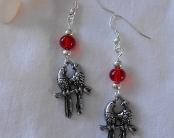 BO 437 - Bird charm earrings