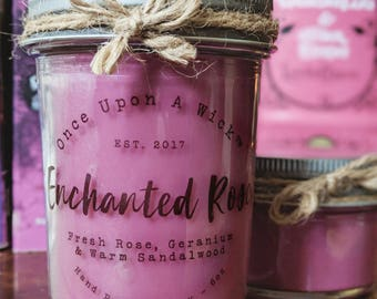 Enchanted Rose | Beauty and the Beast Inspired Bookish Soy Candle