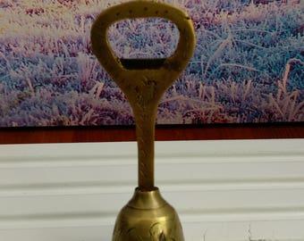 Brass Bell bottle opener, Brass bottle opener,