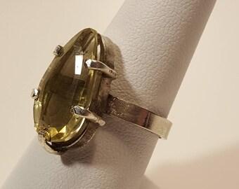 Yellow Topaz Silver ring