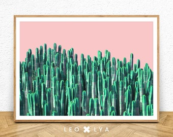 Cactus Photo Print, Western Pop Decor, Desert Plant, Green Plant, Arizona Desert, Botanical Wall Art, Large Poster Art, Printable Plant Art